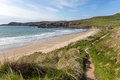 Wales coast path whitesands bay pembrokeshire uk Stock Images