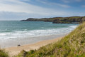 Wales coastline whitesands bay pembrokeshire beach st brides west uk in the coast national park the coast path passes Stock Photography