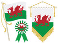 Wales flags Royalty Free Stock Photo
