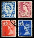 Wales Postage Stamps Royalty Free Stock Image