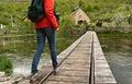Walk along croatia historic village on gacka river Royalty Free Stock Photos