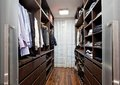 Walk-in closet in the hallway Royalty Free Stock Photo
