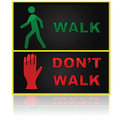 Walk and don't walk Royalty Free Stock Photo
