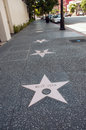 Walk of fame of hollywood on blvd los angeles california Stock Images