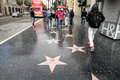 Walk of fame hollywood famous place Stock Photography