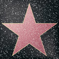Walk of fame star. Star hollywood. Royalty Free Stock Photo