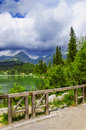Lake in the mountains Royalty Free Stock Photo