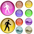 Walk Symbol Royalty Free Stock Photography