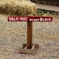Walk way do not Block Royalty Free Stock Photo