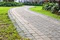 Walk Way in the Garden Stock Image