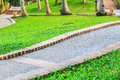 Walk way in park before sunset laos Royalty Free Stock Photos