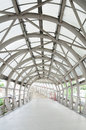 Walk way and steel roof entrance to department stores thailand Royalty Free Stock Photo