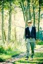 Caminar en bosque