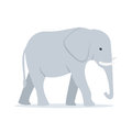 Walking Adult Elephant Vector Illustration Royalty Free Stock Photo