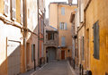 Walking in aix en provence the old streets of cities are interesting and unusual Stock Images