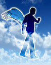 Walking Angel Royalty Free Stock Photos
