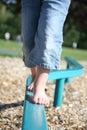 Walking Balance Beam Royalty Free Stock Images
