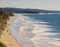 Walking the Beach, Encinitas California Stock Photo