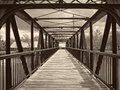 Walking bridge this crosses the columbia canal in columbia south carolina Royalty Free Stock Photos