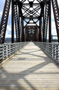 Walking bridge in Fredericton Stock Photography