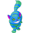 Walking cheshire cat illustration of Royalty Free Stock Photo