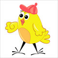 Walking chicken illustration. isolated character Stock Photos