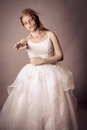 Walking dead zombie bride undead young woman as a shot in studio Stock Photography