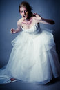 Walking dead zombie bride undead young woman as a shot in studio Royalty Free Stock Photos