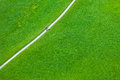 Walking footpath in green field horizontal shot Royalty Free Stock Photo