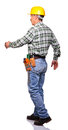 Walking handyman Stock Images