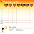 Walking Journal Chart Stock Photos