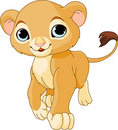 Walking Lion Cub Royalty Free Stock Photo
