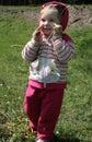 Walking little girl Stock Photography