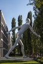 Walking Man sculpture in Munich, Germany, 2015