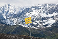 Walking at mount schareck in austria trails the mountain the background the snowy glockner group of the hohe tauern range situated Stock Photography