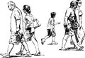 Walking people vector image of a various Royalty Free Stock Photography