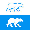 Walking polar bear illustration. Royalty Free Stock Photo