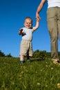 Walking Practice Royalty Free Stock Photo