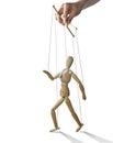 Walking puppet, . Royalty Free Stock Photo