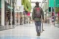 Walking through a shopping mall Royalty Free Stock Photo
