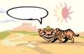 Walking tiger. Royalty Free Stock Photo