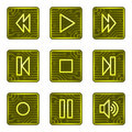 Walkman buttons web icons, electronics card series Royalty Free Stock Images