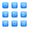 Walkman web icons Stock Images