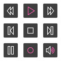 Walkman web icons Royalty Free Stock Photos