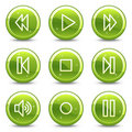 Walkman web icons Stock Photos