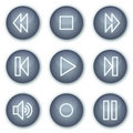 Walkman web icons, mineral circle buttons series Stock Photos