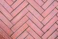 Walkpath flooring from red brick block Royalty Free Stock Photo