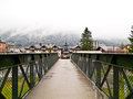 Walkway bridge at Chamonix, France Royalty Free Stock Images