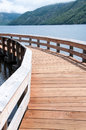 Walkway at Coldwater Lake Royalty Free Stock Photo