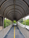 Walkway on footbridge Royalty Free Stock Photo